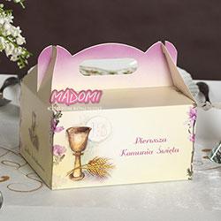 Pudełko na ciasto dla gości 5 sztuk PD05