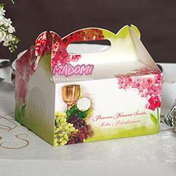 pudełko na ciasto dla gości 5 sztuk PD03