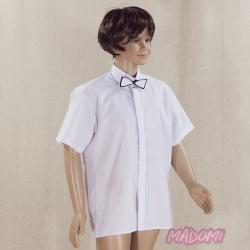 Biała klasyczna koszula z krótkim rękawem KSZ02