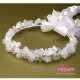Białe wianki komunijne z kryształkami WM11