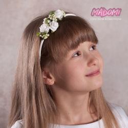 Opaska do włosów z kwiatkami jak żywe OP13