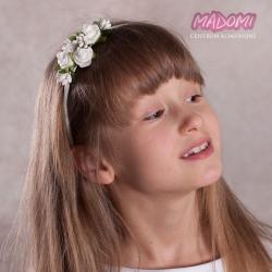 Opaska do włosów z kwiatkami jak żywe OP11