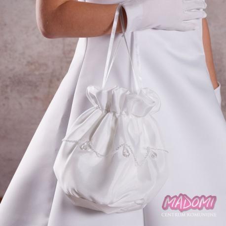 Biała torebka do komunii TK05