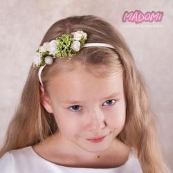 Opaska do włosów z kwiatkami jak żywe OP10