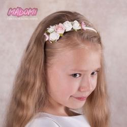 opaska do włosów z kwiatkami jak żywe OP12