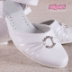 Buty komunijne dla dziewczynek z klamerką OM710