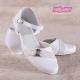 Śnieżnobiałe obuwie komunijne dziewczęce OM714