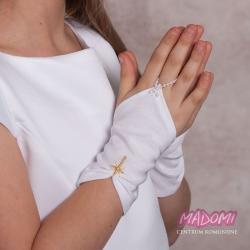 Rękawiczki krótkie marszczone na palec RK03