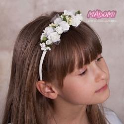 Opaski do włosów z kwiatuszkami jak żywe OP20