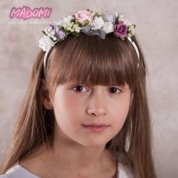 Opaski do włosów dla dziewczynek z kwiatkami jak żywe OP21