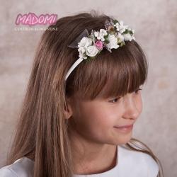 Opaski do włosów z kwiatuszkami jak żywe OP23