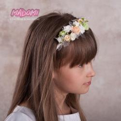 Opaska do włosów z kwiatkami jak żywe OP26