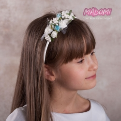 Opaska do włosów z kwiatuszkami jak żywe OP29