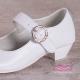 Obuwie komunijne białe gładkie Princesska OM902