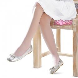 Białe gładkie rajstopy dziewczęce Knittex Ala R16