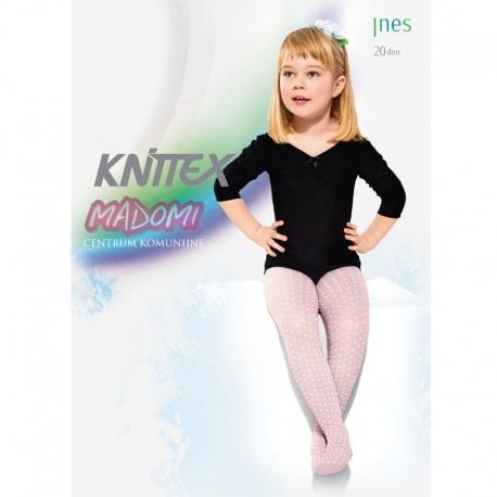 Rajstopy dziewczęce białe Knittex Ines R19