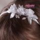 Biała opaska do włosów OW06