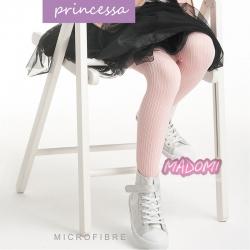 Białe wzorzyste rajstopy Princessa R21 116/122