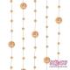 Girlandy perłowe o długości 1.3 m. 5 szt. GP21