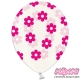 Balony Crystal Clear, rozmiar 30 cm. kwiatuszki SB14C-227-099M