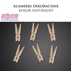 Klamerki dekoracyjne mini 3cm. kolor naturalny 20szt. KLD-100