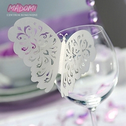 Motylki dekoracyjne wycinane laserowo 10szt. MO