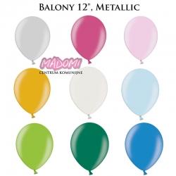 "Balony kolorowe metalik 12"" 10szt."