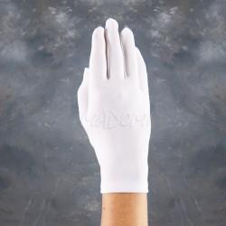 Białe rękawiczki komunijne pełne gładkie RK28