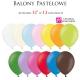 """Balony pastelowe rozmiar 12"""" różne kolory 10szt."""