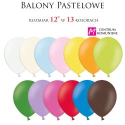 """Balony w kolorze pastelowym rozmiar 12"""" 10szt."""