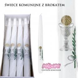 Świeczki komunijne z brokatem 4sztuki SWIEKO