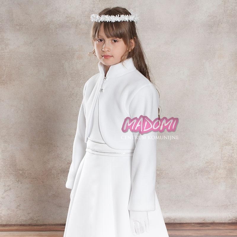 8f03b5fbb0 Białe bolerka komunijne dla dziewczynek z polaru polarowe BKM07
