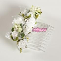 Grzebienie do dekoracji włosów z kwiatuszkami jak żywe model G24