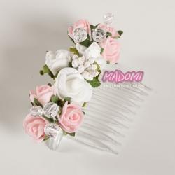 Grzebyk z kwiatuszkami jak żywe model G28