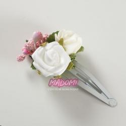 Spinki do włosów z kwiatkami jak żywe model SM05