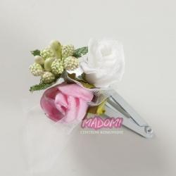 Spineczki do włosów z kwiatkami jak żywe model SM06