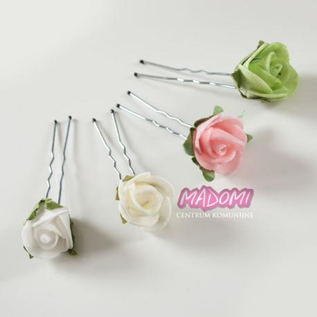 Szpilki do dekoracji włosów z kwiatkami jak żywe model SM12