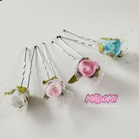Szpilki do dekoracji włosów z kwiatkami jak żywe model SM13