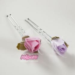 Szpileczki do dekoracji włosów z kwiatkami jak żywe model SM14