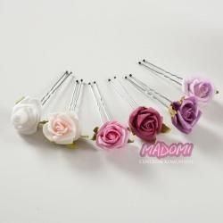 Szpileczki do włosów z kwiatuszkami jak żywe model SM15