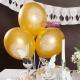 Balony komunijne z ornamentem IHS kolor złoty BAL110-019 10sztuk