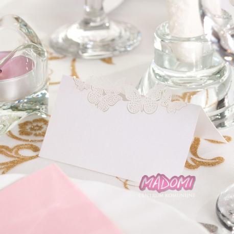 Wizytówki na stół z motylkami 10szt. WS55