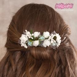 Grzebień do dekoracji włosów z kwiatkami jak żywe model G19