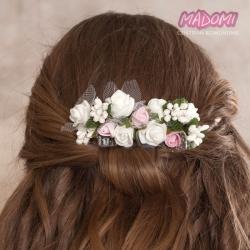 Grzebienie do dekoracji włosów z kwiatkami jak żywe model G20