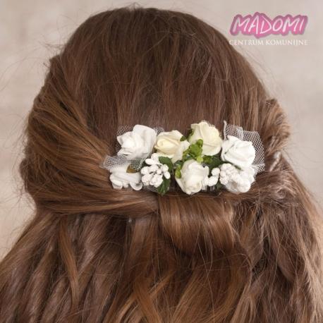 Grzebień do dekoracji włosów z kwiatuszków jak żywe model G18