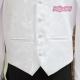 Biała kamizelka chłopięca z krawatem KZ08