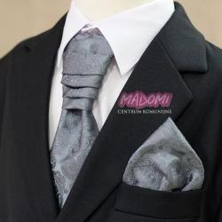 Krawat chłopięcy w kolorze ciemnym stalowym szarym KP41