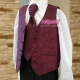 Bordowa kamizelka chłopięca komunijna z krawatem KZ05