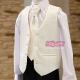 Kamizelka z krawatem dla chłopca w kolorze ecru KZ29