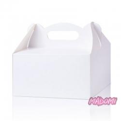 Pudełka na ciasto gładkie białe uniwersalne 5 sztuk PD00